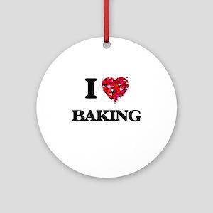I Love Baking Ornament (Round)