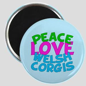 Love Welsh Corgis Magnet