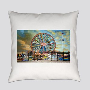 Wonder Wheel Park Everyday Pillow