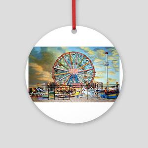 Wonder Wheel Park Ornament (Round)