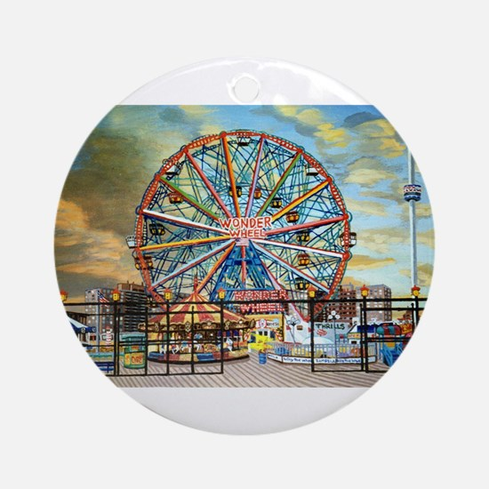 Wonder Wheel Park Ornament (Round)