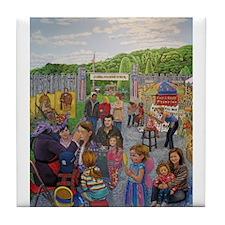Face Painting At The Long Island Fair Tile Coaster