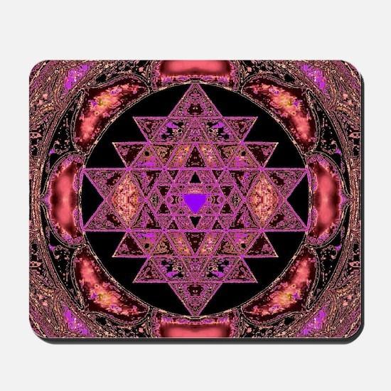 Lakshmi Yantra Mandala- Rose Mousepad