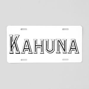 Kahuna Aluminum License Plate