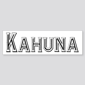 Kahuna Bumper Sticker