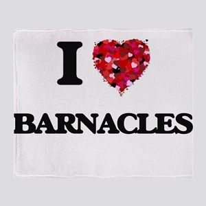 I Love Barnacles Throw Blanket