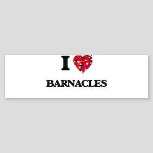 I Love Barnacles Bumper Sticker