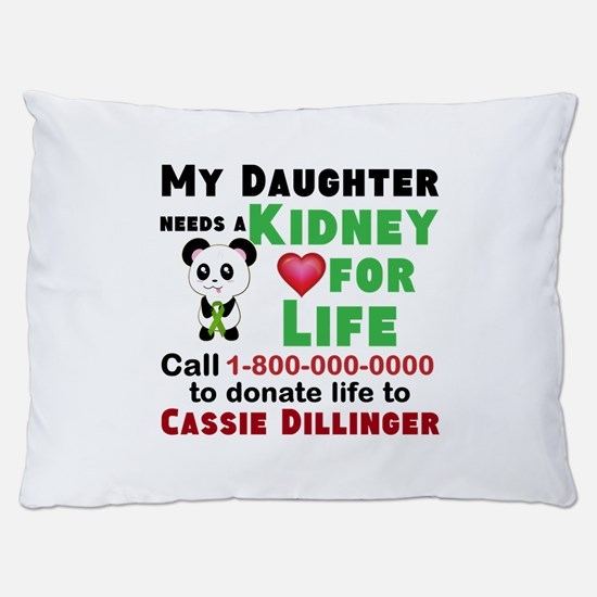 Personalize Kidney Donation Sign Dog Bed