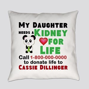 Personalize Kidney Donation Sign Everyday Pillow