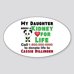 Personalize Kidney Donation Sign Sticker