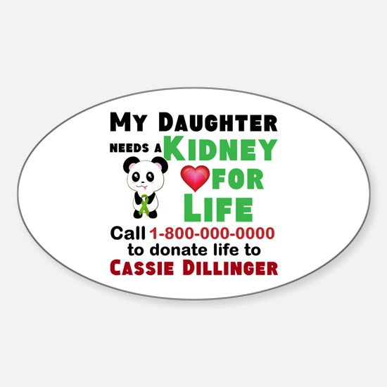 Personalize Kidney Donation Sign Decal