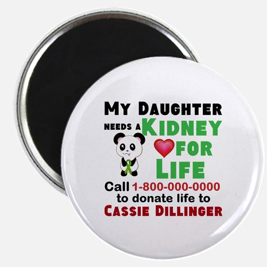 Personalize Kidney Donation Sign Magnets