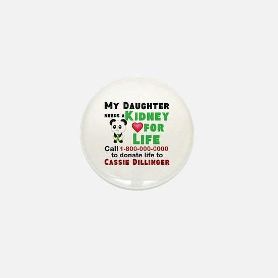 Personalize Kidney Donation Sign Mini Button