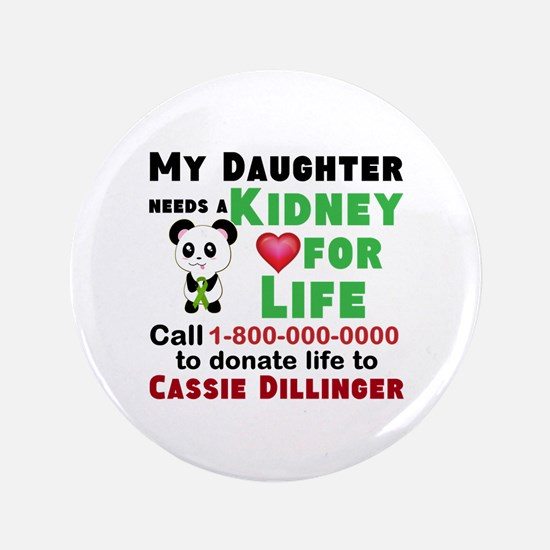 Personalize Kidney Donation Sign Button