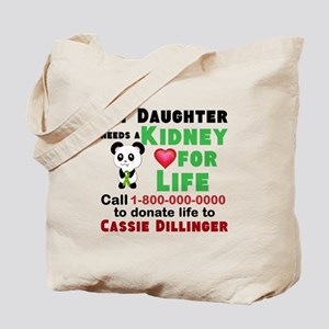 Personalize, Kidney Donation Tote Bag