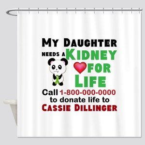 Personalize, Kidney Donation Shower Curtain