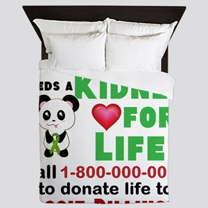 Personalize, Kidney Donation Queen Duvet