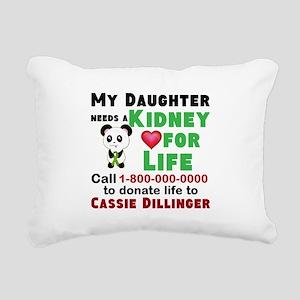 Personalize, Kidney Dona Rectangular Canvas Pillow