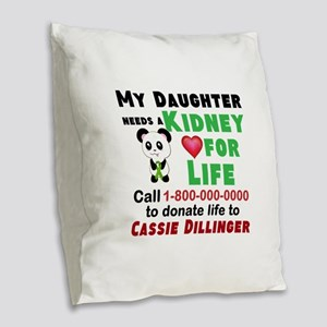 Personalize, Kidney Donation Burlap Throw Pillow