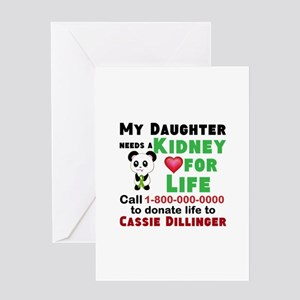 Kidney donor greeting cards cafepress personalize kidney donation greeting card m4hsunfo