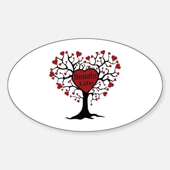 Donate Life Tree Sticker (Oval 10 pk)