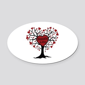 Donate Life Tree Oval Car Magnet