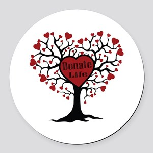 Donate Life Tree Round Car Magnet