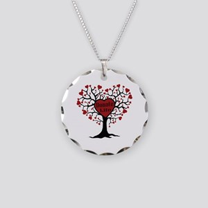 Donate Life Tree Necklace Circle Charm