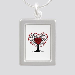 Donate Life Tree Silver Portrait Necklace