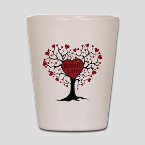 Donate Life Tree Shot Glass