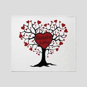 Donate Life Tree Throw Blanket