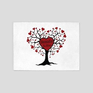 Donate Life Tree 5'x7'Area Rug