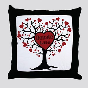 Donate Life Tree Throw Pillow