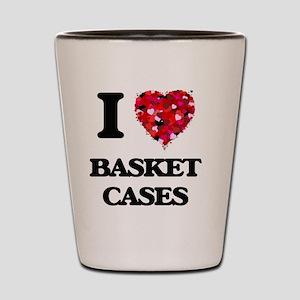 I Love Basket Cases Shot Glass