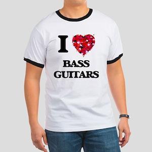 I Love Bass Guitars T-Shirt
