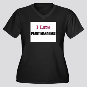 I Love PLANT MANAGERS Women's Plus Size V-Neck Dar