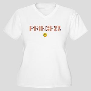 Boo Boo Princess Women's Plus Size V-Neck T-Shirt