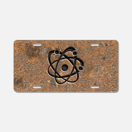 Iron Oxide Atom Aluminum License Plate