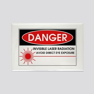 Danger, Invisible Laser Radiation Rectangle Magnet