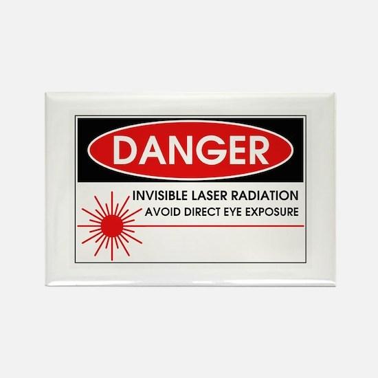 Danger, Invisible Laser Radiation Rectangle Magnet
