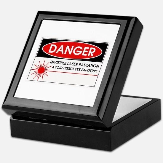 Danger, Invisible Laser Radiation Keepsake Box