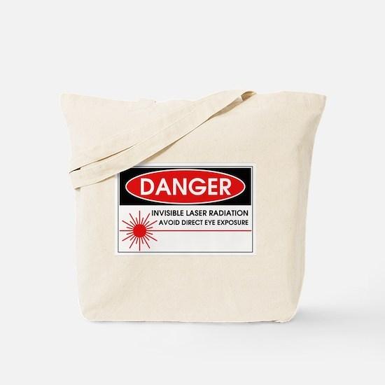 Danger, Invisible Laser Radiation Tote Bag