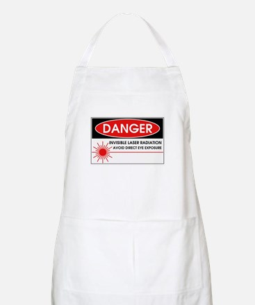 Danger, Invisible Laser Radiation BBQ Apron