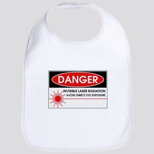 Danger, Invisible Laser Radiation Bib