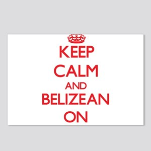 Keep Calm and Belizean ON Postcards (Package of 8)