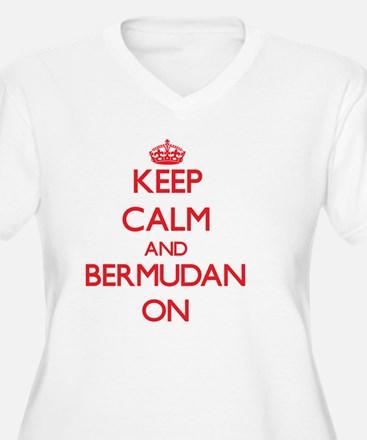 Keep Calm and Bermudan ON Plus Size T-Shirt