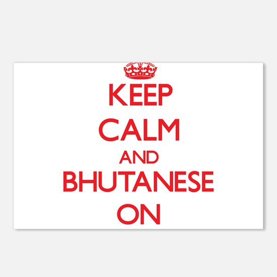 Keep Calm and Bhutanese O Postcards (Package of 8)