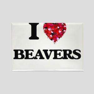 I Love Beavers Magnets