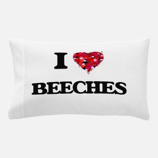 I Love Beeches Pillow Case