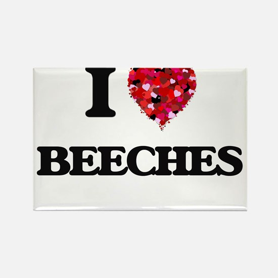 I Love Beeches Magnets